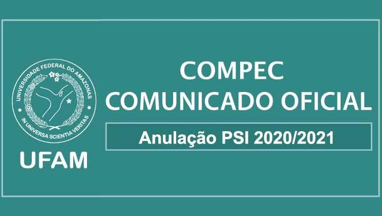 Anulação PSI 2020/2021