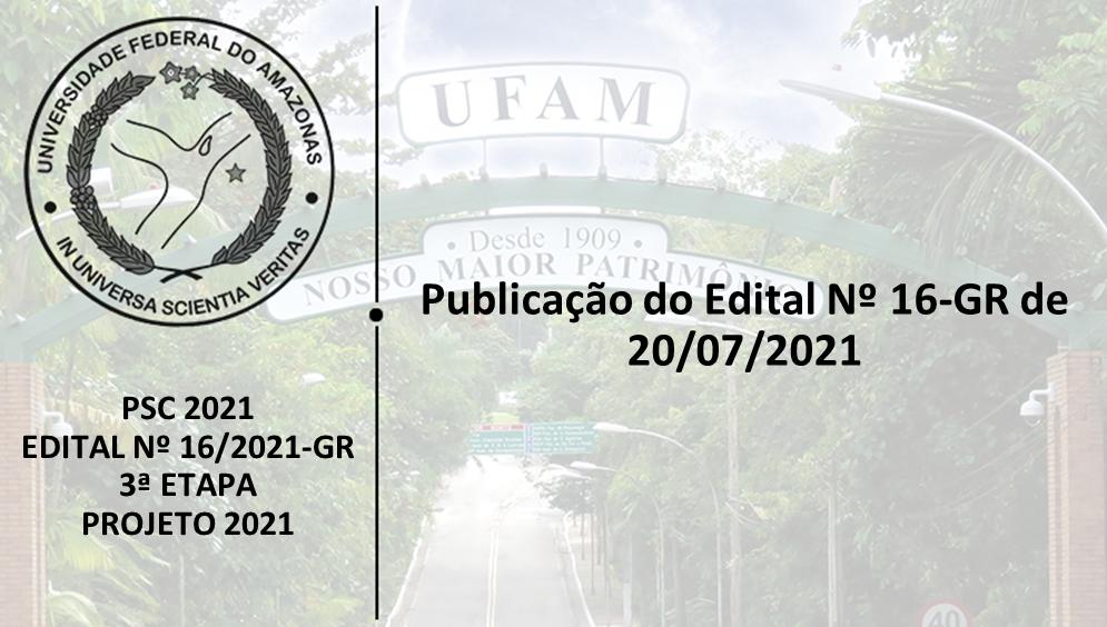PSC2021 - Edital 16/2021 - 3ª ETAPA - PROJETO 2021