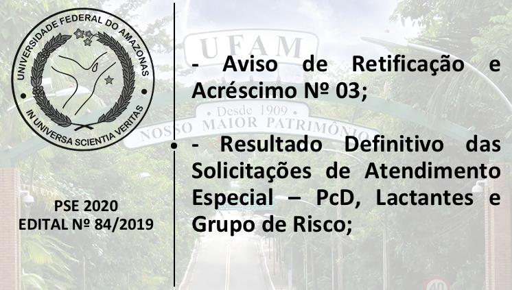 PSE - Edital 84/2019 - Novos Informes
