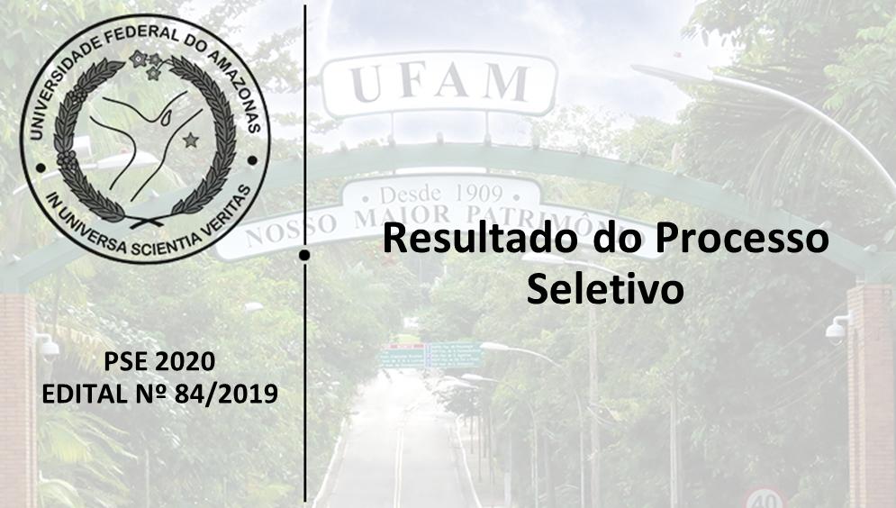 PSE - Edital 84/2019 - Resultado do Processo Seletivo