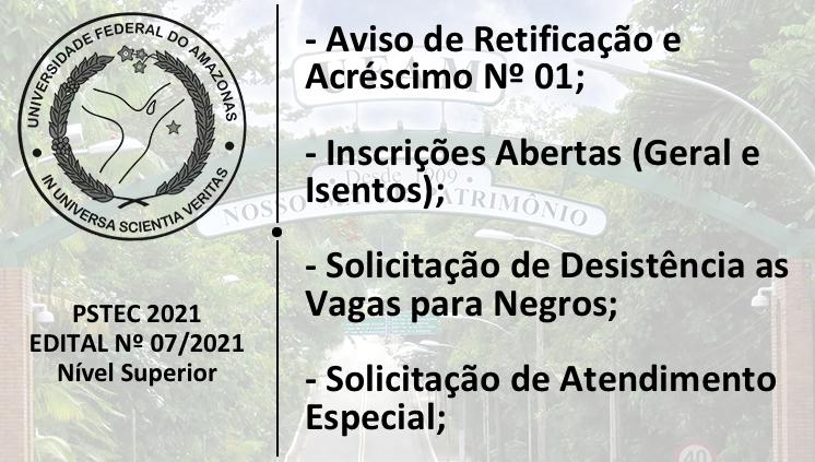 PSTEC - Edital 07/2021 - Novos Informes
